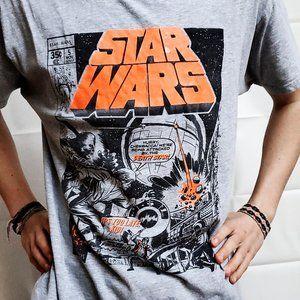 Star Wars comic retro style t-shirt unisex